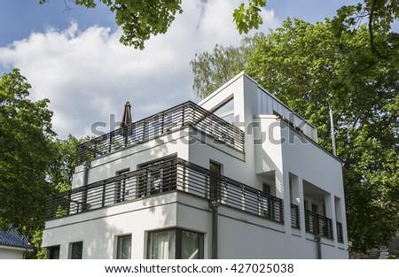 Luxury modern house in Berlin, Germany - stock photo