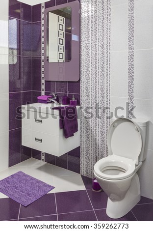 Decorated Bathroom domestic bathroom stock images, royalty-free images & vectors