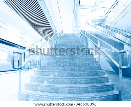 Luxury office buildings, indoor stairs - stock photo