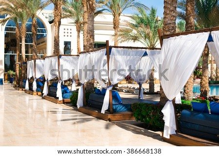 luxury place resort,spa and water-pool for vocations  - stock photo