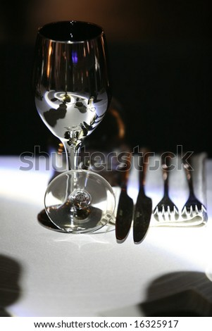 luxury place setting - stock photo
