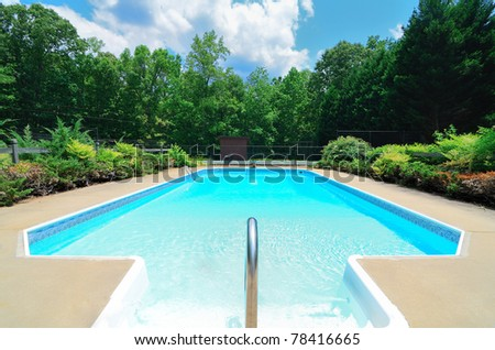 Luxury pool - stock photo