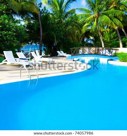 Luxury Pool Concept - stock photo