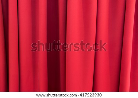 Luxury red curtains texture - stock photo