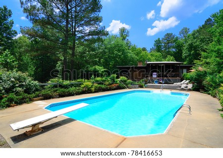 Luxury residential pool - stock photo