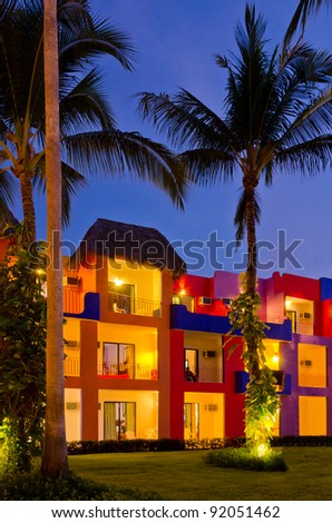 luxury resort  at night view