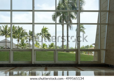Luxury resort interiors, royalty free unrecognizable photo