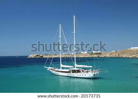 Luxury Sailing Vessel in Mediterranean Waters