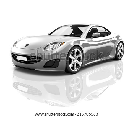 Beau Luxury Silver 3D Sports Car