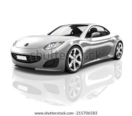 Beau Luxury Silver 3D Sports Car