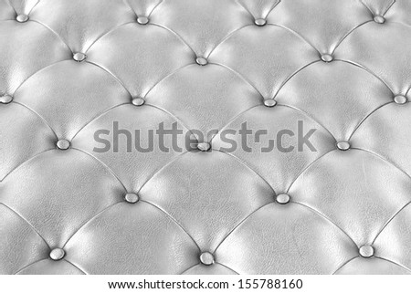 Luxury silver  leather. - stock photo