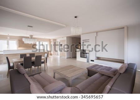 Luxury sitting room in exclusive detached house