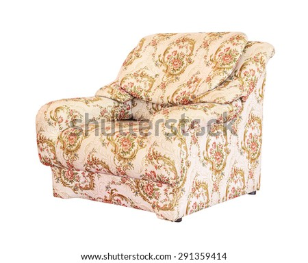 luxury sofa isolated with clipping path - stock photo