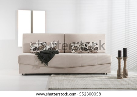 luxury sofa living room and wide frame