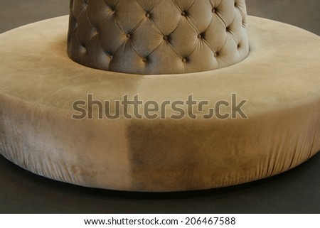 luxury style of the leather sofa - stock photo