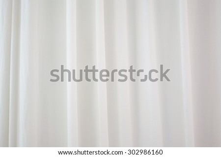 Luxury sweet white curtain - stock photo