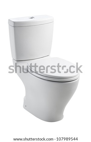 Luxury toilet bowl nice for modern bathroom - stock photo