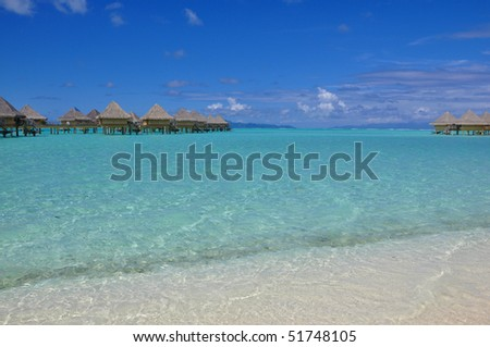 Luxury Tropical Beach Resort - stock photo