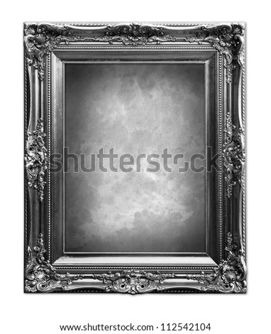 Luxury vintage frame in black and white. - stock photo