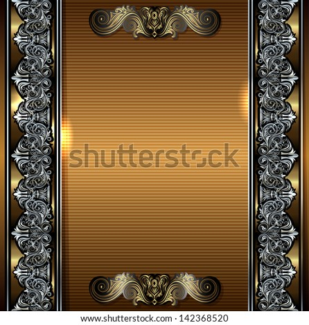 Luxury vintage frame with place for your text - stock photo
