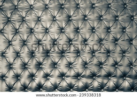 luxury vintage style fabric with button texture from sofa,B&W - stock photo