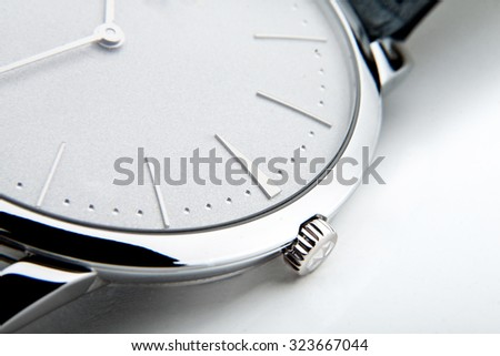 Luxury watch,  closeup  - stock photo