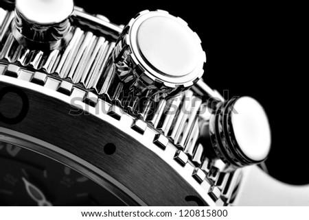 luxury watch part - stock photo