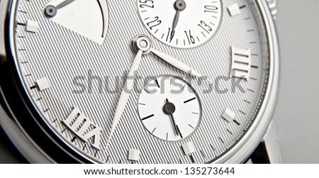 luxury watch swiss made - stock photo