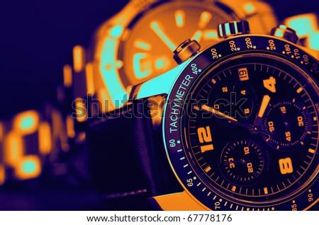 Luxury watches - stock photo