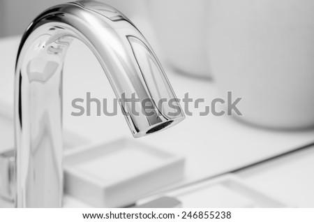 luxury water sink in room - stock photo
