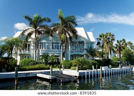 Luxury waterfront building - stock photo