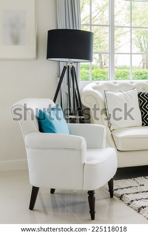 Luxury White Chair In Living Room With At Home Part 91