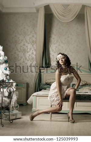 Luxury woman in fashion interior