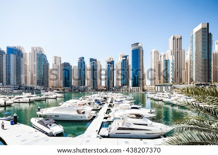 Luxury yacht bay in the city