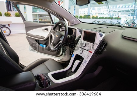 LUZERN/SWITZERLAND - MAY 29, 2012; The Interior of the Chevrolet Volt. - stock photo