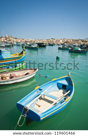 Luzzu, traditional eyed boats