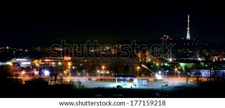 Lviv evening - stock photo