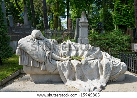 LVIV - MAY 19: ancient Lychakivskyj cemetery May 19, 2008 in Lviv, Ukraine