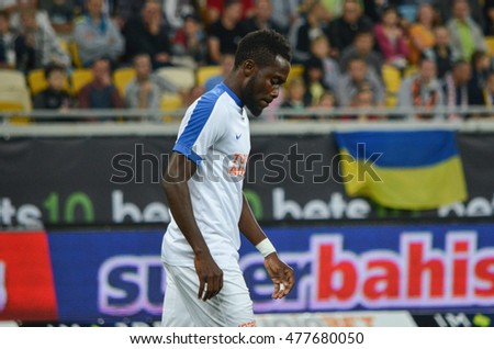 LVIV, UKRAINE - JUL 25: Joseph Attamah in action during the Europa League match between Shakhtar Donetsk vs Istanbul Basaksehir, 25 Jule 2016, Arena Lviv, Ukraine