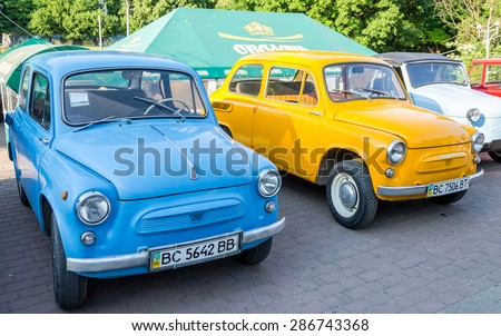 Lviv, Ukraine - June 2015: Auto festival Leopolis grand prix 2015. Old vintage retro car ZAZ
