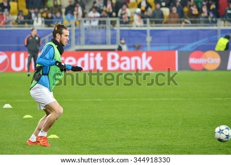 LVIV, UKRAINE - OCT 25: Gareth Bale during the UEFA Champions League match between Shakhtar vs Real Madrid, 25 October 2015, Arena Lviv, Ukraine