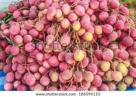 Lychee fruit. - stock photo