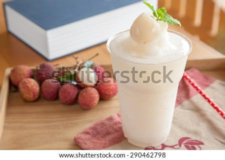 Lychee fruity frappe - stock photo