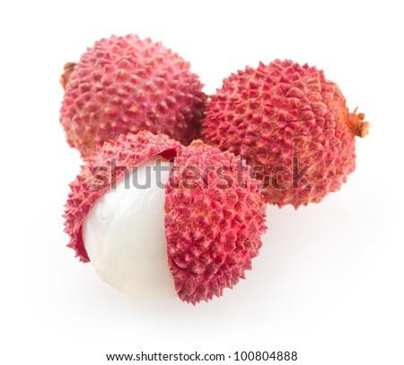 lychees - stock photo