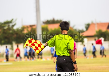 Lyman,Umpire, Assistant football referee. - stock photo