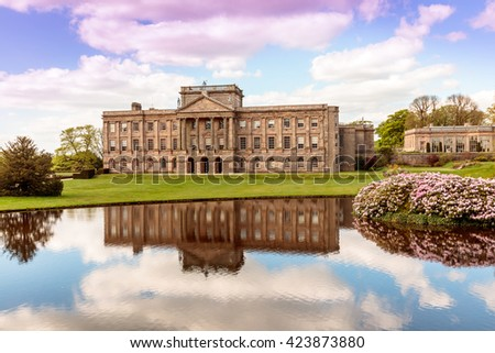 Lyme Hall historic English Stately Home and park in Cheshire, England. - stock photo