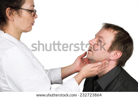 lymph node control - stock photo