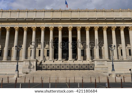 Lyon, France - april 13 2016: the neoclassical law court