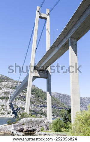 Lysefjord bridge (near Forsand, Rogaland, Norway) - stock photo