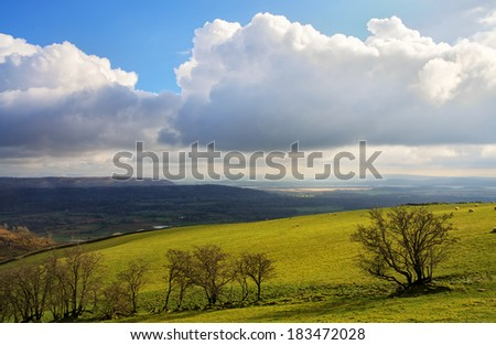 Lyth Valley in Cumbria - stock photo